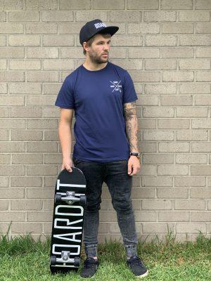 navy snowboard tee shirt
