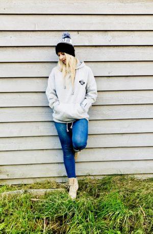 grey snowboard hoodie