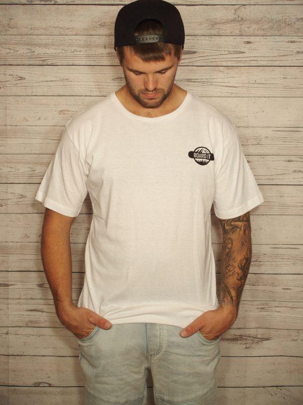 white snowboarding t shirt
